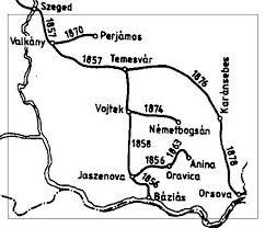 A Bánát vasútvonalai