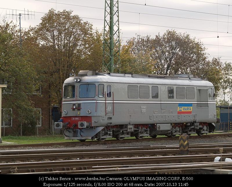 A CFR 60 1086-2 pályaszámú Sulzer mozdonya Debrecenben fotó