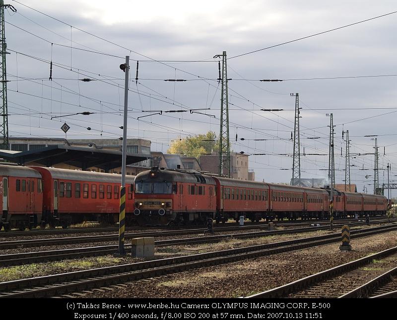 MDmot 3031 Debrecen állomás elején fotó