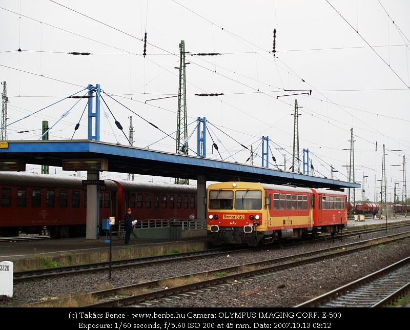 Bzmot 392 Debrecen állomáson fotó