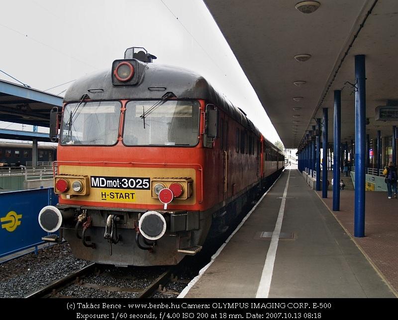 MDmot 3025 Debrecen állomáson fotó