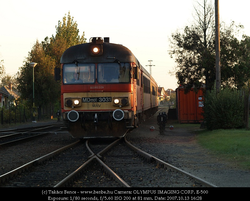 MDmot 3031 Sáránd állomásra érkezik fotó