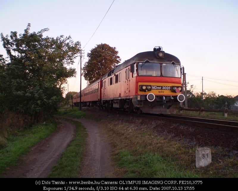 MDmot 3028 Derecske közelében fotó