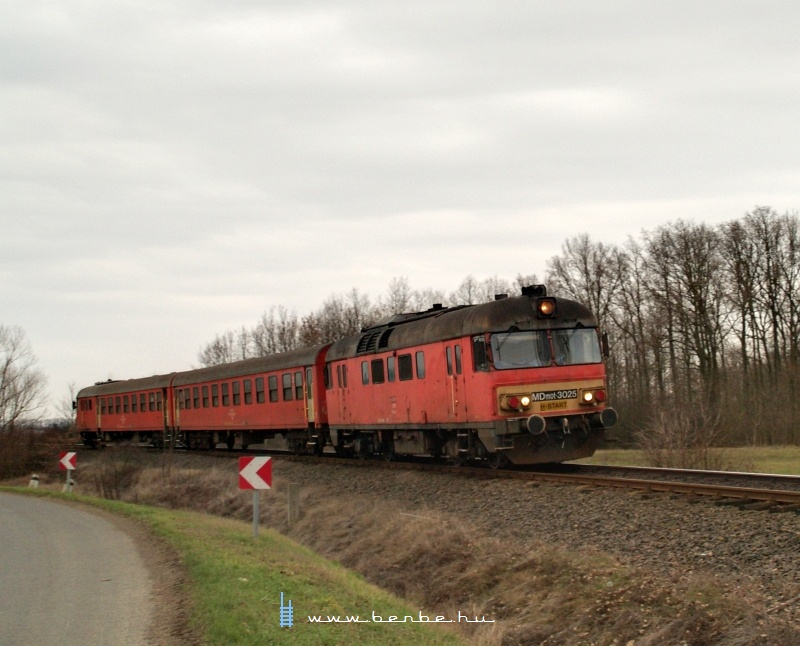 MDmot 3025 Konyár és Derecske-Vásártér között fotó