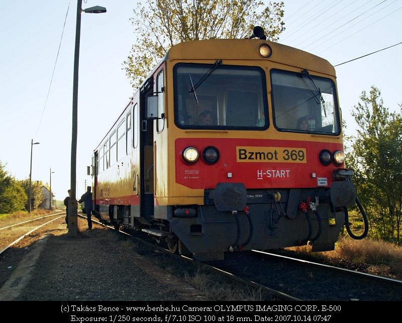 Bzmot 369 Kocsord alsó állomáson fotó