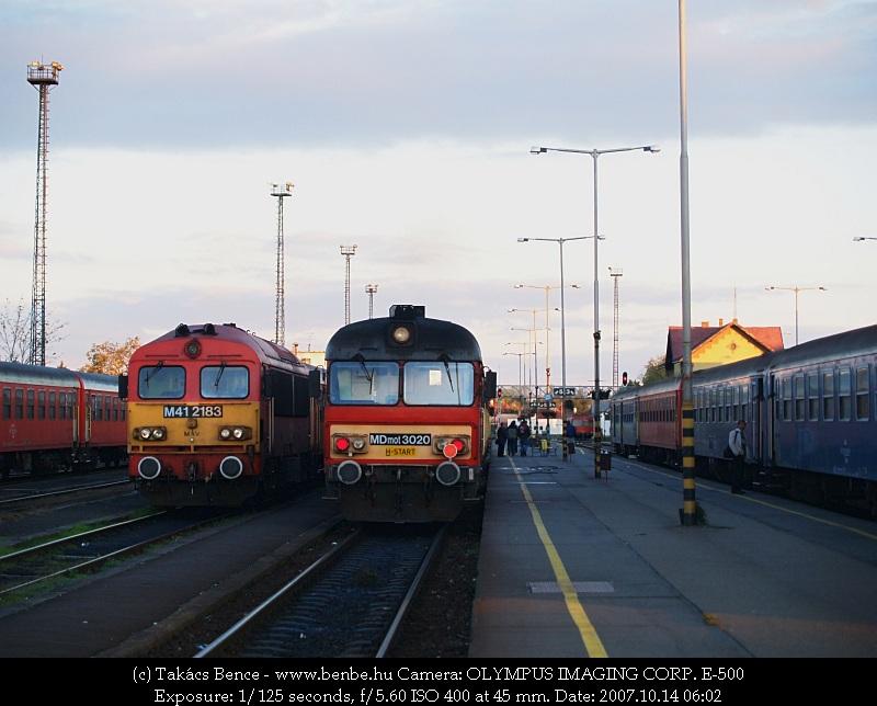 MDmot 3020 és M41 2183 Mátészalkán fotó