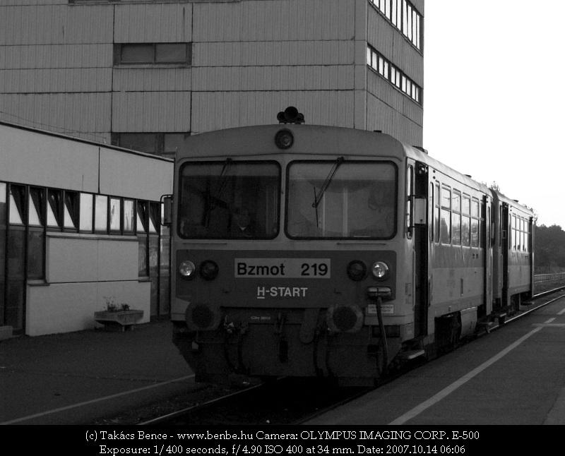 Bzmot 219 Mátészalka állomáson fotó