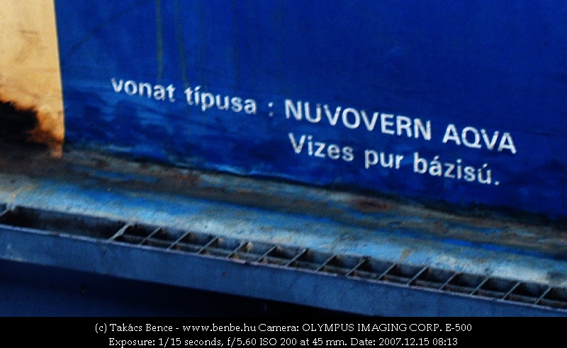 A vonat típusa: NUVOVERN AQVA fotó