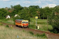 The Bzmot 170 is leaving Orosháza towards Szentes