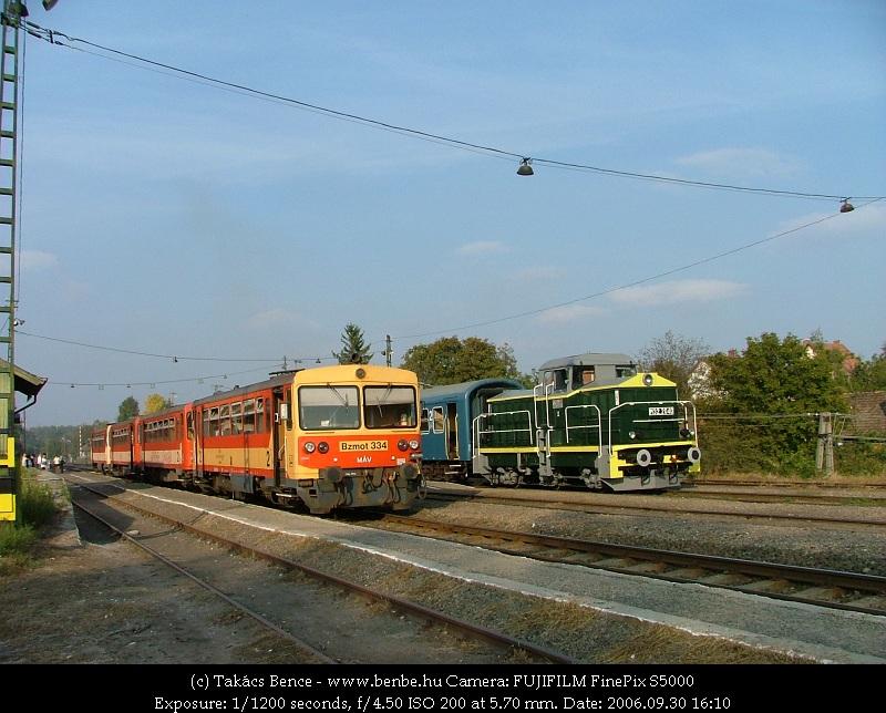 Bzmot 334 és M32 2040 Diósjenõ állomáson fotó
