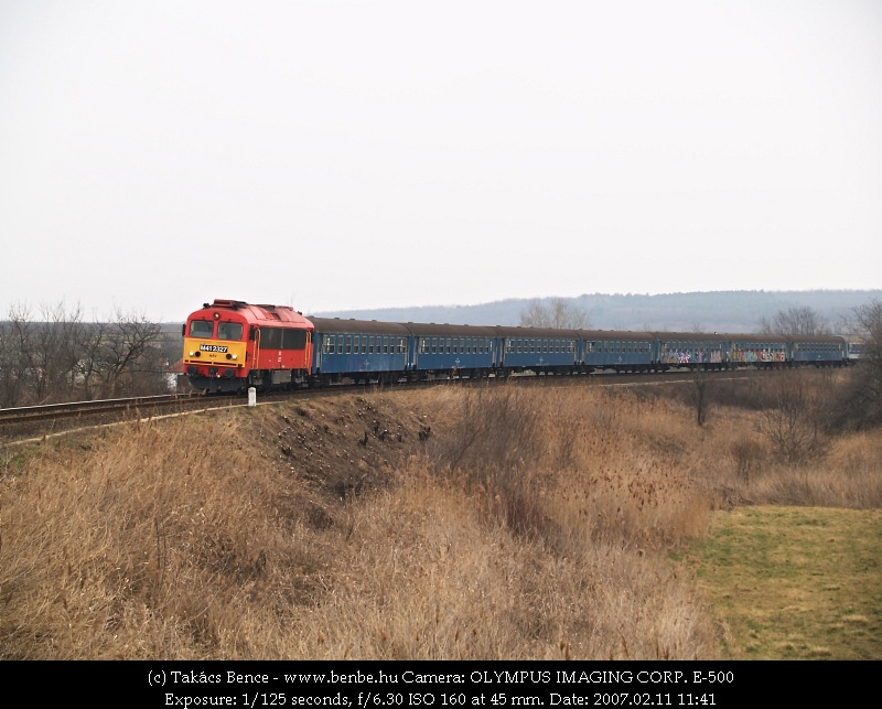 The M41 2327 is arriving at Csajág photo