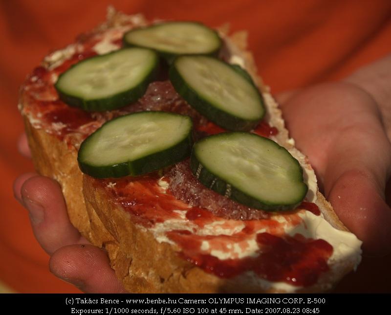 Titkos recepet: lekváros-szalámis-uborkás kenyér fotó