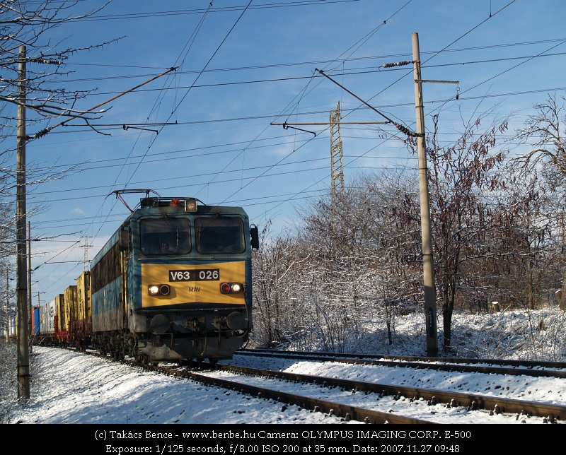 V63 026 Érdligetnél fotó