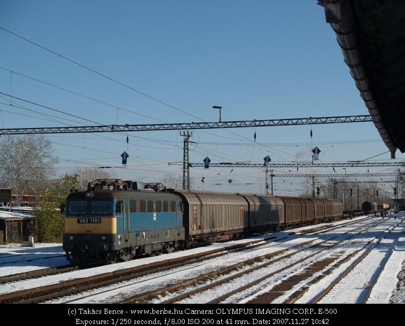 V43 1161 Nagytétény-Diósd állomáson fotó