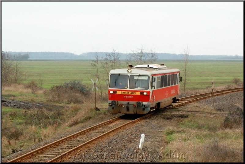 Bzmot 403 Kismargita és Tiszacsege között fotó