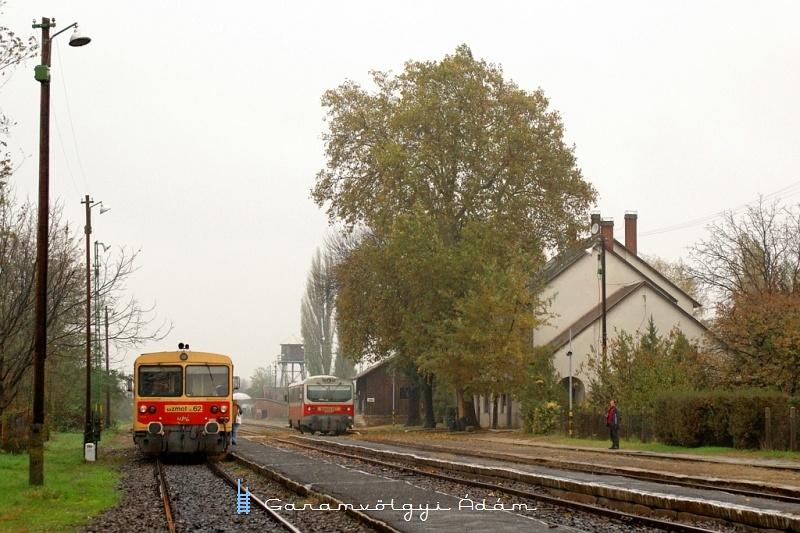 Bzmot 262 és 417 Tiszalök állomáson fotó