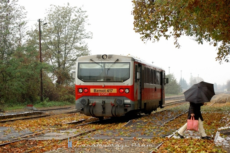 Bzmot 417 Tiszalök állomáson fotó