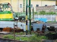 The sad remnants of GySEV/Raaberbahn V43 322 at Kom�rom