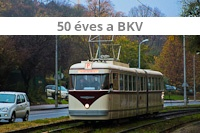 50 years BKV tram parade
