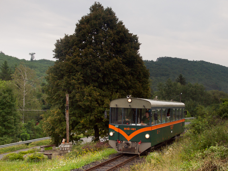 The Királyréti Erdei Vasút M06 401 seen between Hártókút and Szokolya-Mányoki photo