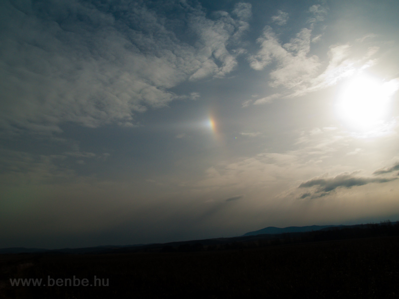 Sun dog near Diósjenő photo