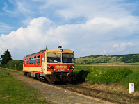 The MÁV-START Bzmot 243 seen at Ludányhalászi