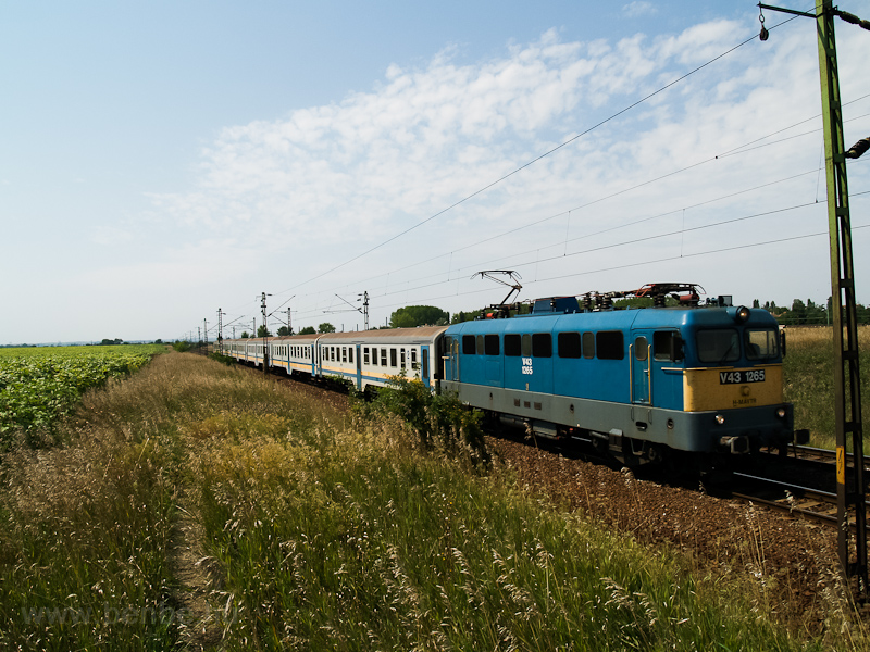 The MÁV-TR V43 1265 seen between Tura and Hatvan  photo