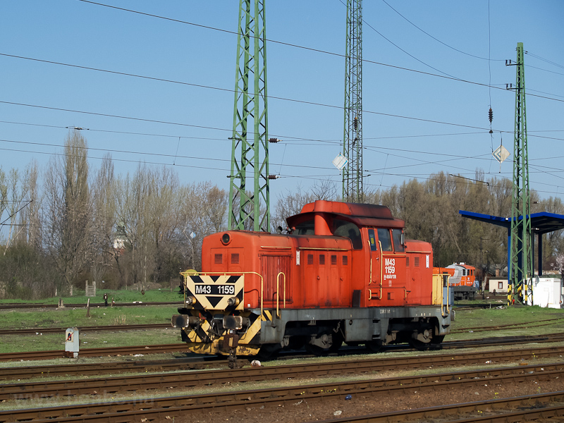 The MÁV-TR M43 1159 seen at photo