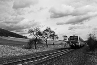 The 6341 028-6 seen between Vizsl�s and Kisterenye-B�nyatelep