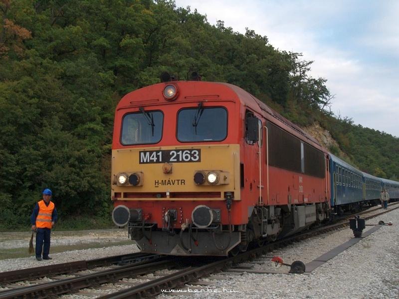 M41 2163 az OMYA-iparvágányon fotó