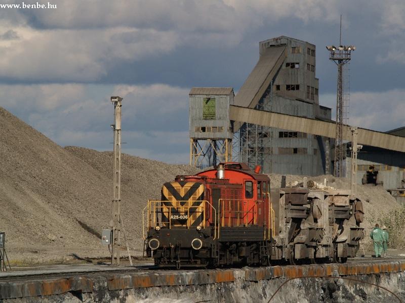 A25 036 a centeri vasmû és hengerde iparvágányán fotó
