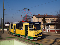 No. 202 type KT8D5 Tatra tram at Miskolc, Tiszai pu. running on line 2