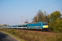The MÁV-START 480 018 seen between Monorierdő and Pilis