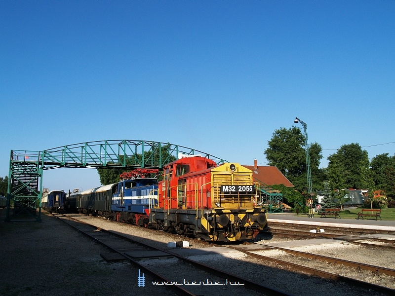 The M32 2055 at the Füsti - Hungarian Railway History Park photo