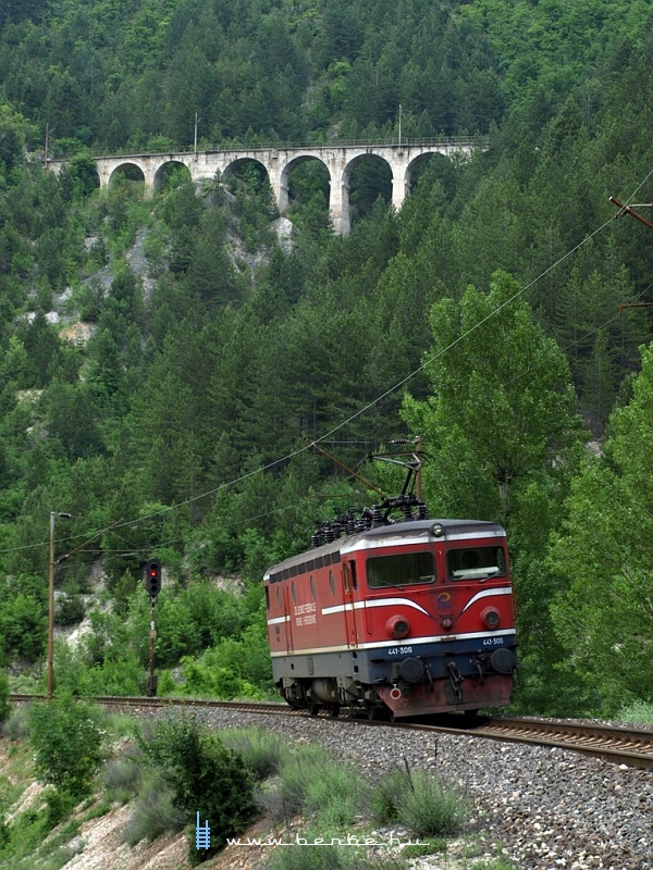 441-308 Ovcari állomás elõtt az ívben fotó