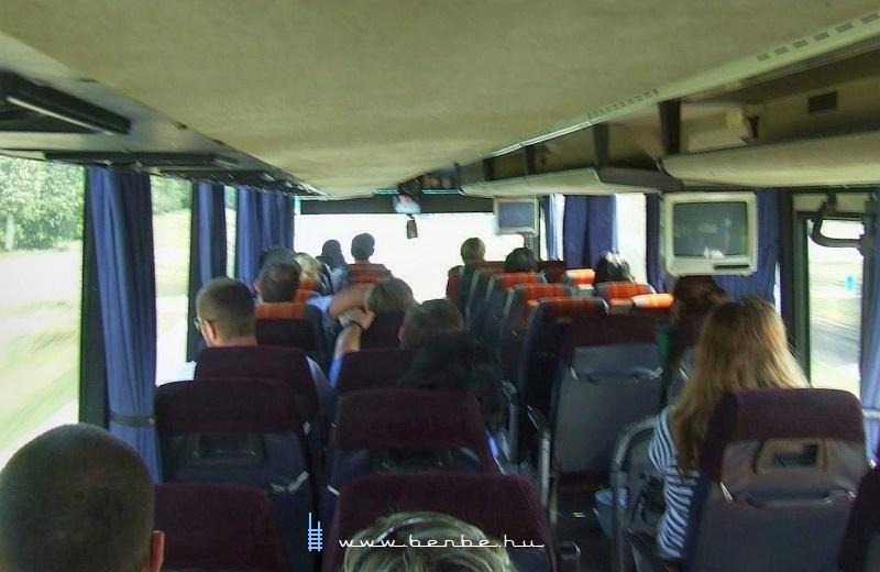 Vonatpótló autóbuszon fotó
