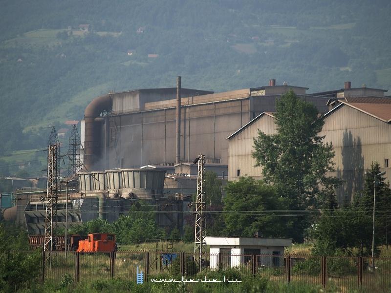 Ipari mozdony Zenicában fotó