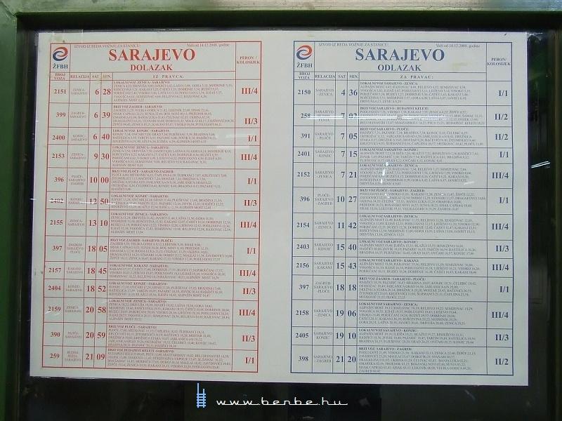 Menetrendek Szarajevóban fotó