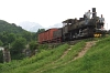 A narrow gauge steam locomotive near Jablanica