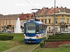 A tram at Esz�k (Osijek) in the hedge mase