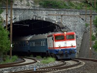 The 441-906 leaving Ovčari station towards Konjic (450 metres above sea level)