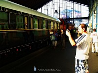 Commuters taking photos of the magical Venice-Simplon Orient Express