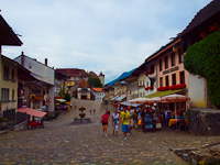On the streets of Gruyere