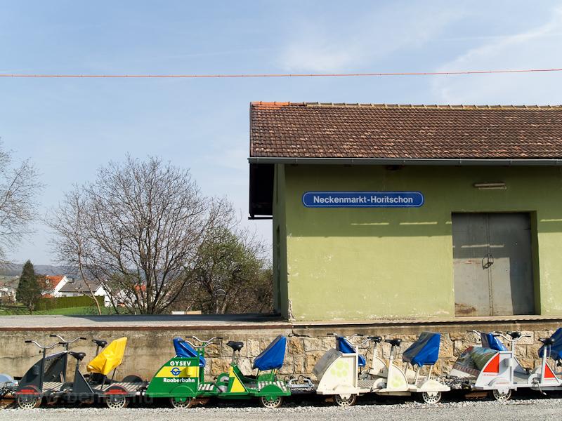 GYSEV drezina Neckenmarkt-Horitschonban fotó
