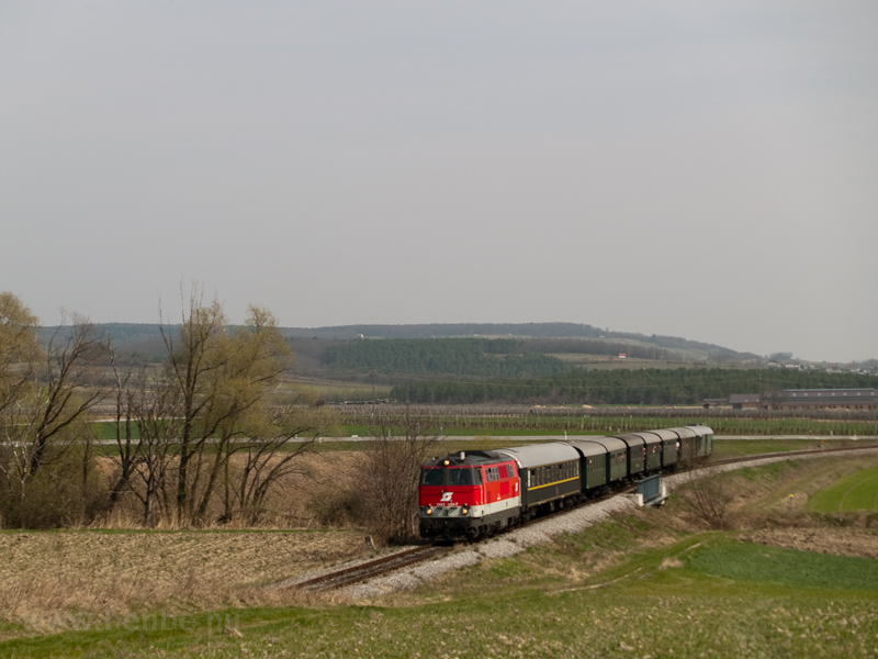 The ÖBB 2143 051-7 is seen hauling a historic train between Sopronnyék-Haracsony (Neckenmarkt-Horitschon, Austria) and Doborján-Lakfalva (Raiding-Lackendorf, Austria) photo