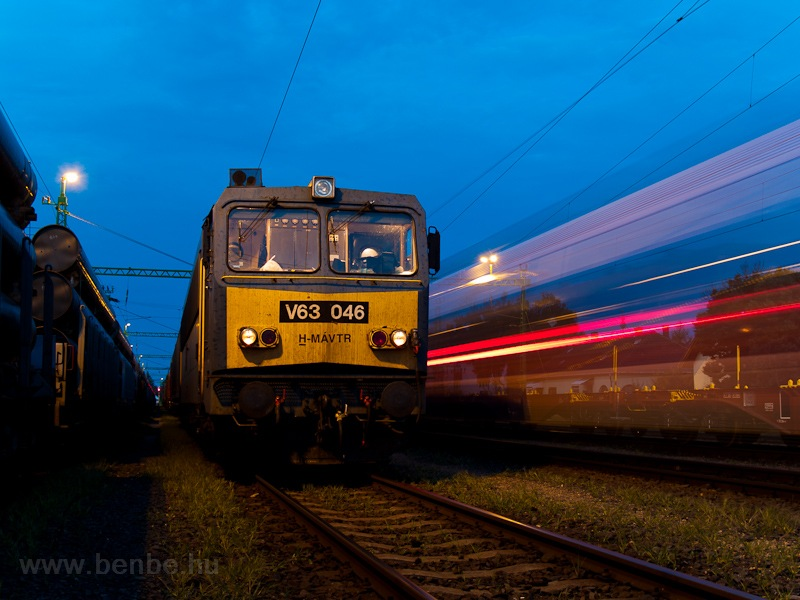 A MÁV-TR V63 046 Fertőszentmiklóson fotó
