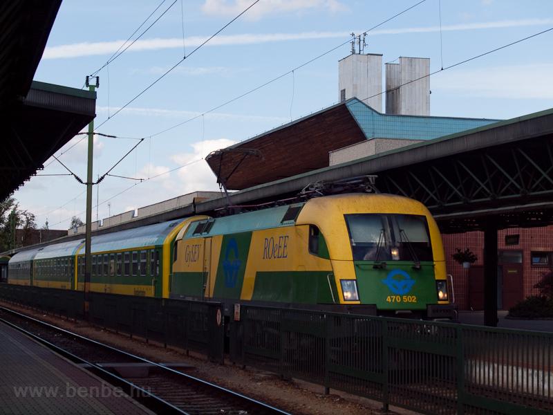 A GySEV 470 502 Sopronban fotó