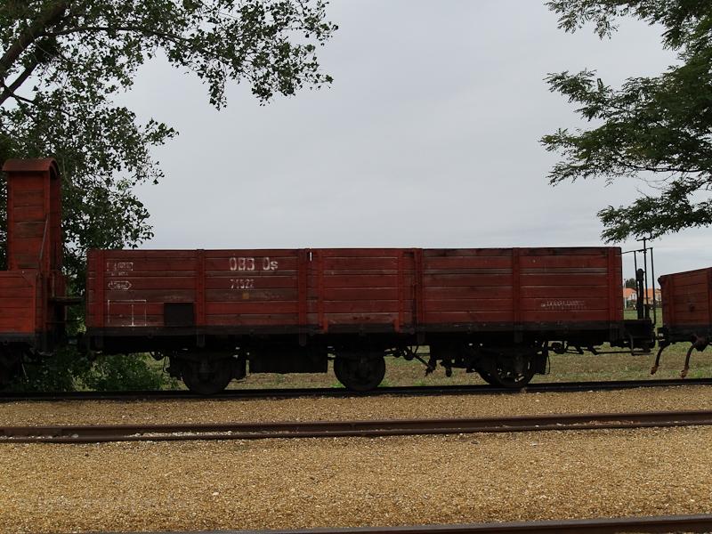 ÖBB alacsony oldalfalú teherkocsi Nagycenken (1000 mm nyomtávú) fotó