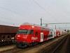 Az ÖBB 86-33 200-6 pályaszámú emeletes vezérlőkocsija Fertőszentmiklóson
