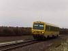 A GYSEV zöld-sárga 247 509-es Lépesfalva és Fraknó között